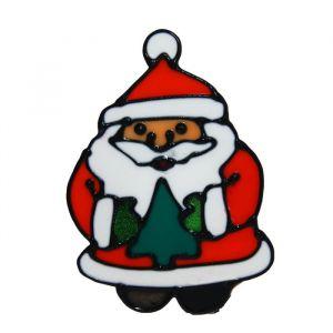 "Наклейка на стекло ""Дед Мороз в шубке с ёлочкой"" 14х10 см 1113551"