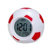 Настольные говорящие часы Футбольный мяч Atima AT-609TI, красный