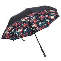 Зонт Наоборот, крупные розы