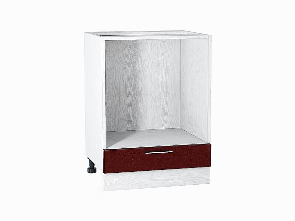 Шкаф нижний под духовку Валерия НД600 (гранатовый металлик)