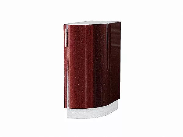 Шкаф нижний торцевой Валерия НТ300S (гранатовый металлик)