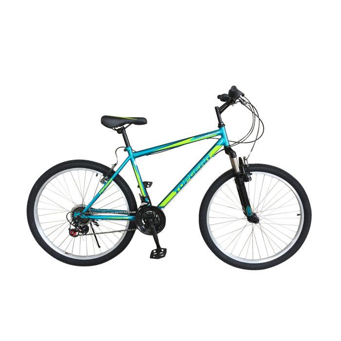 Велосипед горный TOPGEAR Forester, колеса 26, рама 18, передний амортизатор, 21 ск, тормоза V-brake, стальная рама, алюминиевые обода, регулировка р