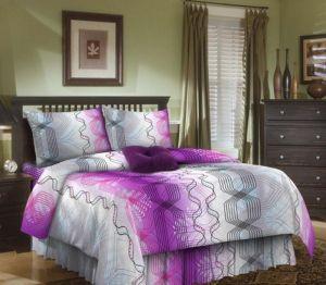 """Постельное белье """"Бояртекс"""" Бязь 1374 вид 1 фиолет размер 1.5"""