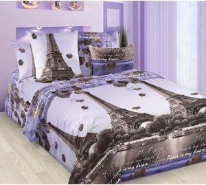 Постельное бельё Белиссимо из бязи Романтика Парижа размер Семейный