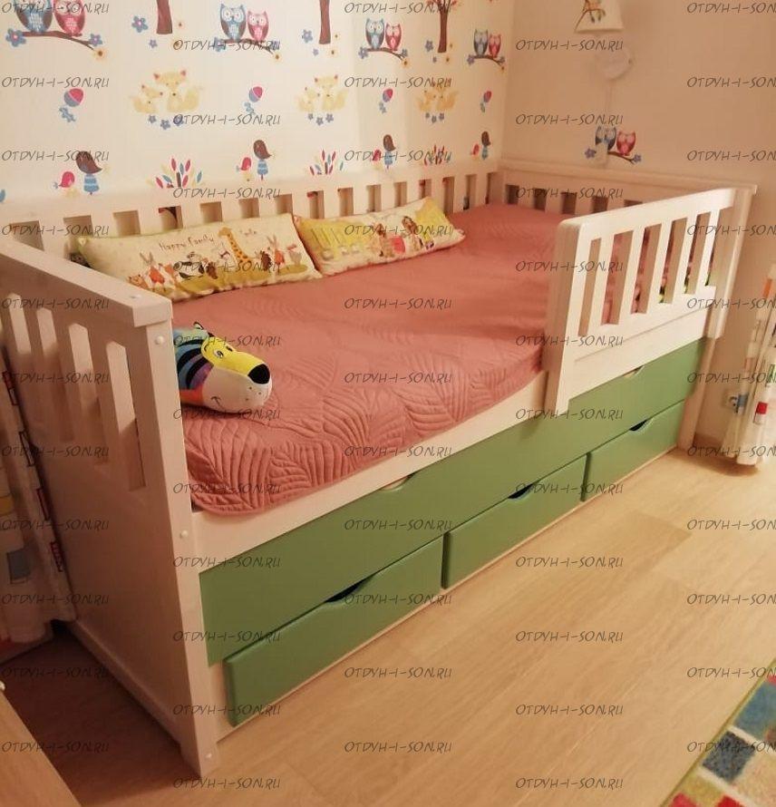 Кровать выкатная двухъярусная Фокси №35