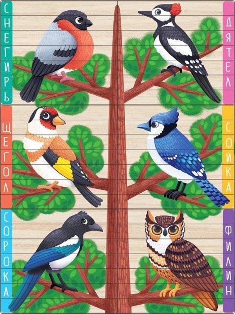 Пазл-палочки Птички