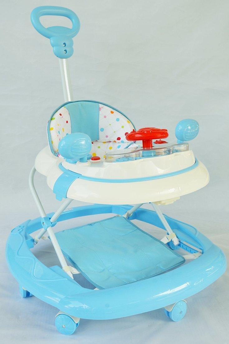 Ходунки детские Drive (голубой), свет, звук, ручка для родителей, силиконовые колеса с фиксацией, съемный подножный коврик, эл.пит.АА*3 не вх.в комплект
