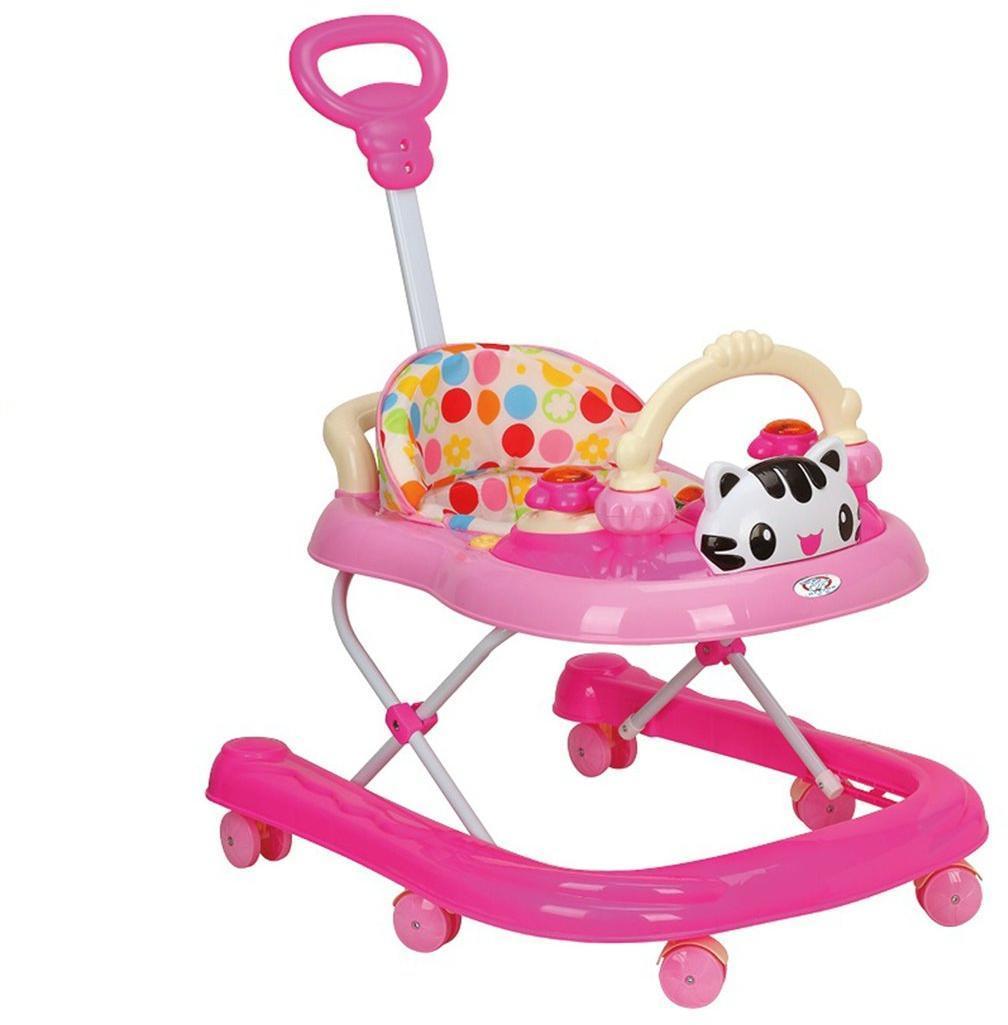 Ходунки детские Kitty (роз.), свет, звук, ручка для родителей, силиконовые колеса с фиксацией, эл.пит.АА*3 не вх.в комплект