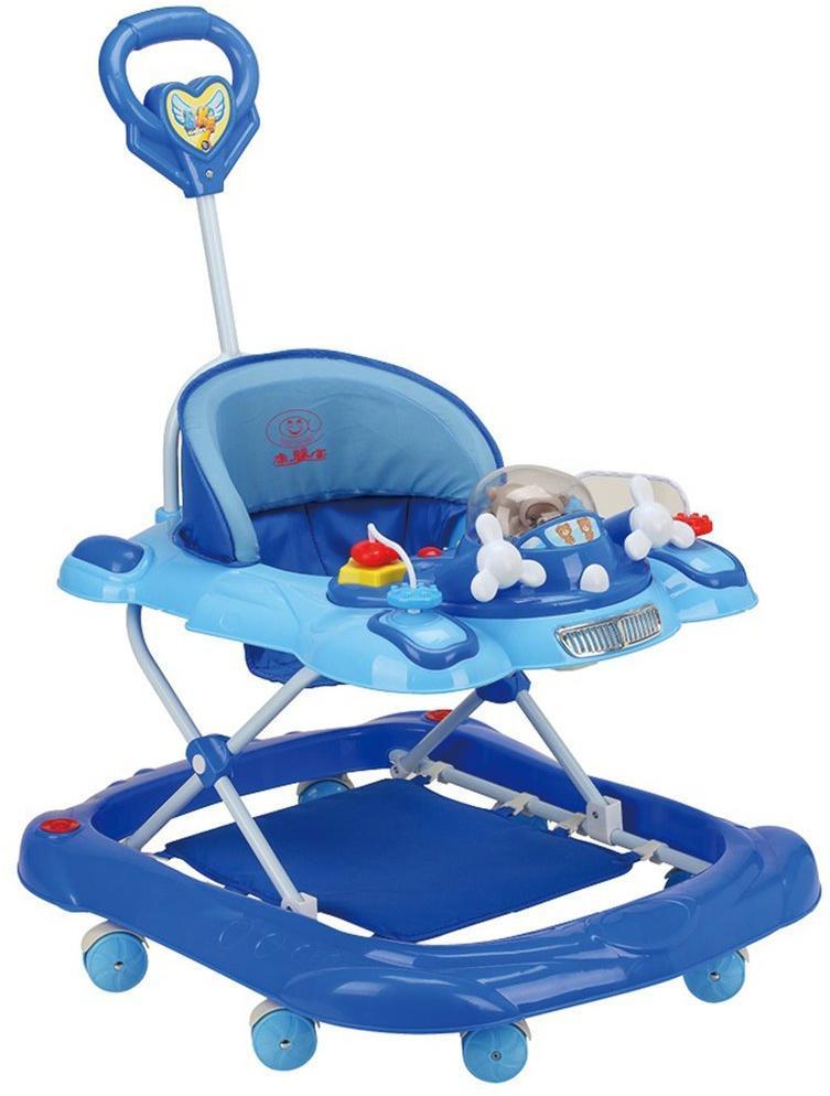 Ходунки детские Wind, свет, звук, ручка для родителей, силиконовые колеса с фиксацией, столик с музыкальной каруселькой, эл.пит.АА*3 не вх.в комплект