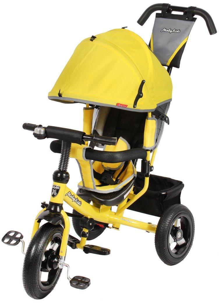 Велосипед 3кол. Comfort 12x10 AIR, желт. (дефект на капюшоне)