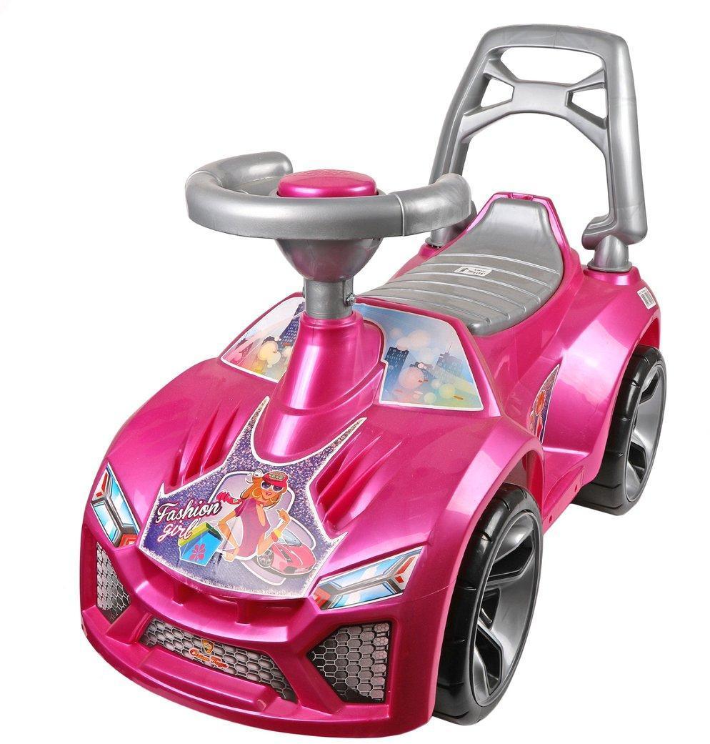 Машина-каталка Ламбо Розовая Принцесса