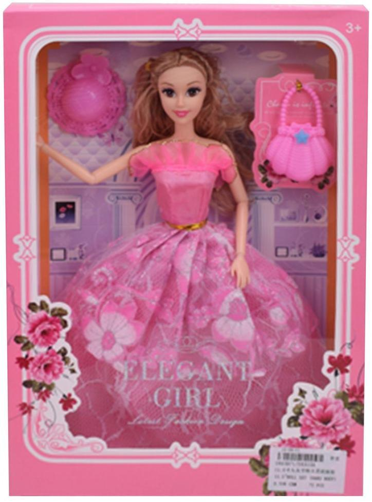 """Игр. набор """"Модница"""", в комплекте кукла 29 см, предметов 2 шт., кор."""
