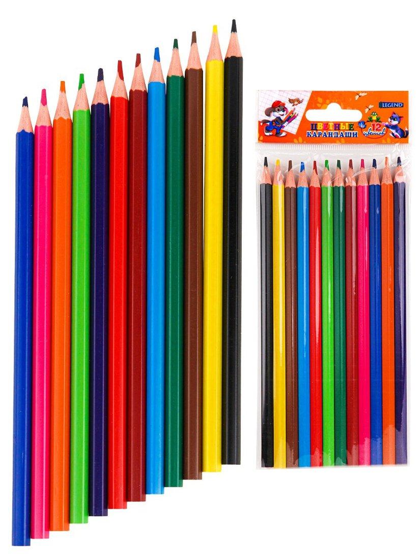 Карандаши цветн. пл, набор,гексаг. 12 цв. Забавная Компания