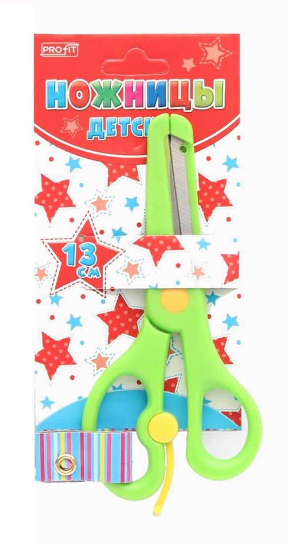 Ножницы детские 13 см. пласт кольца,защита на лезвиях,в карт. Блистере