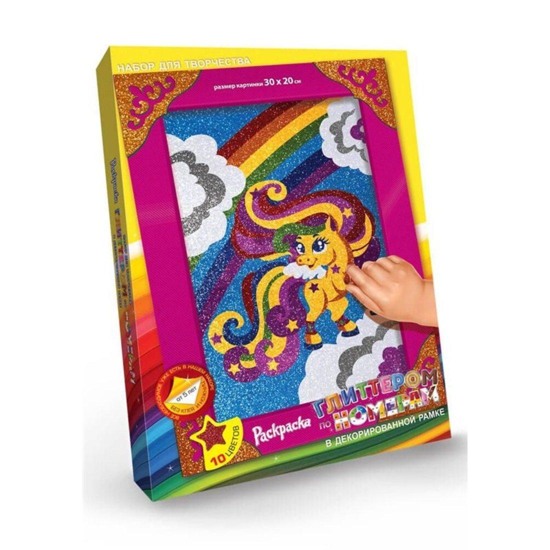 Набор для тв-ва Раскраска глитером Пони