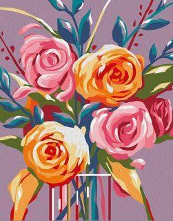 Роспись по холсту Нежные розы, 16,5х13 см