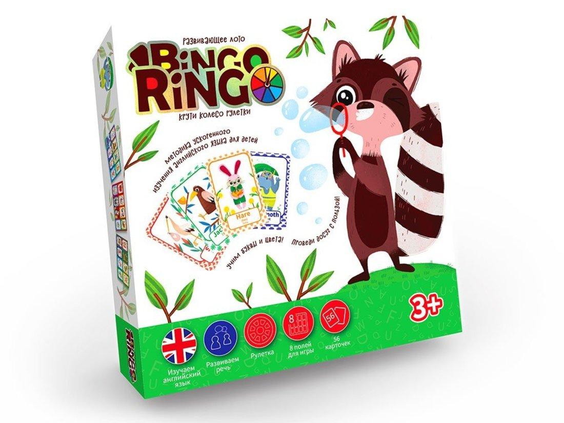Лото развивающее Bingo Ringo, рус+англ. алфавит