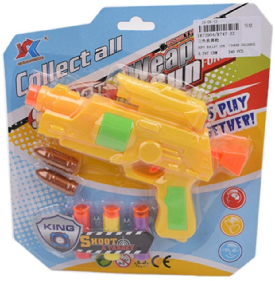 Пистолет, в комплекте м/пули 3шт., пули 2шт.