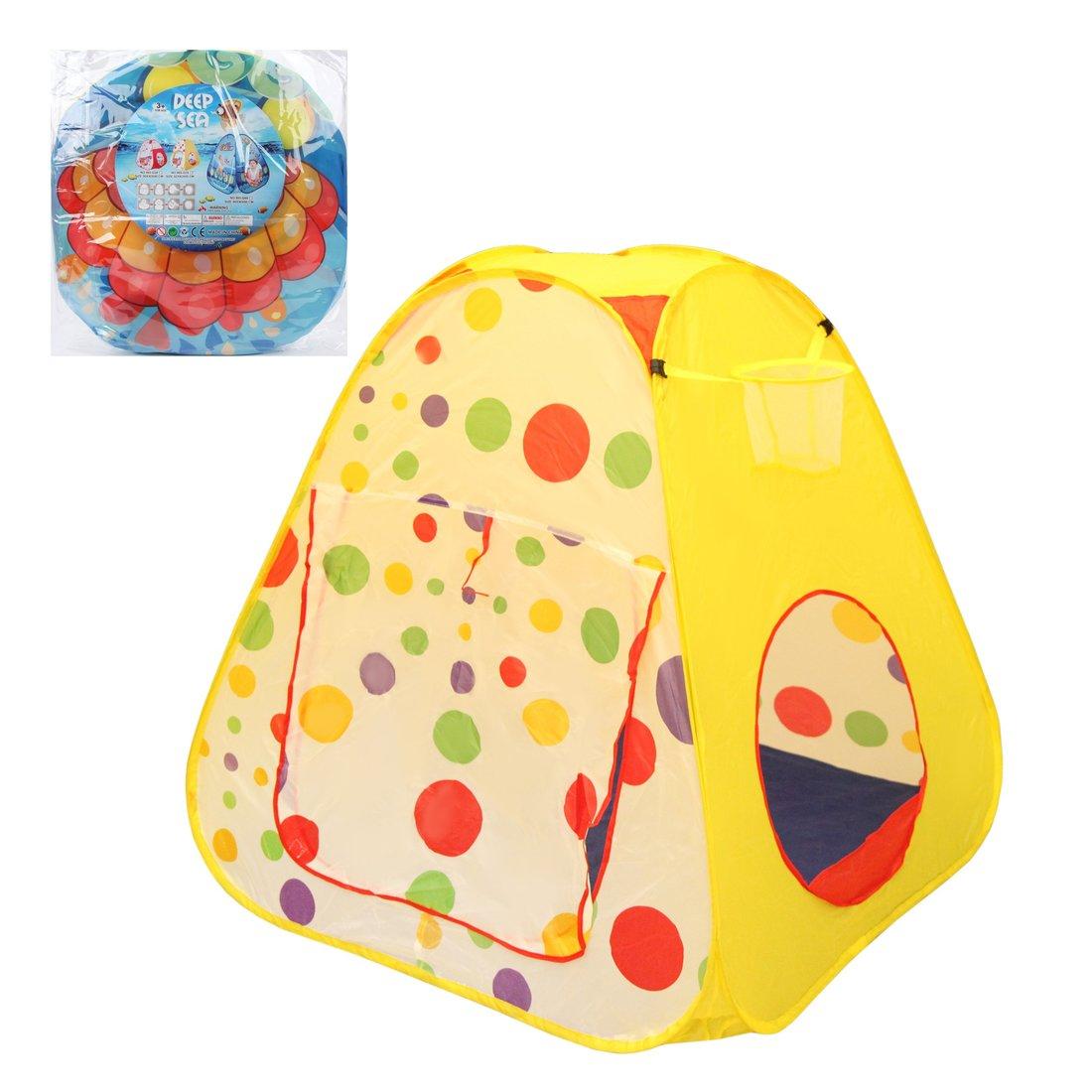 Палатка игровая Горошек, размер 95*95*98см, сумка на молнии