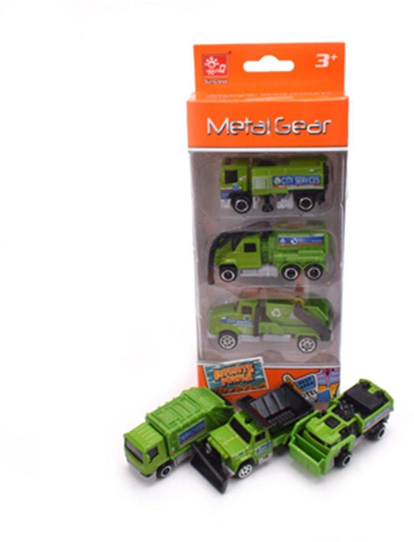 Игр.набор Грузовой транспорт, в комплекте машины металлические (без механизма) 3шт., коробка, в ассортименте