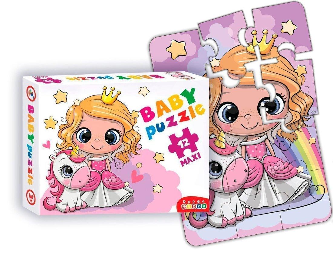 Пазлы Baby Puzzle Принцесса и единорог