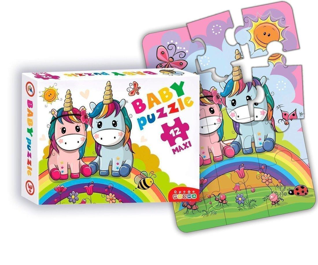 Пазлы Baby Puzzle Радужные единороги