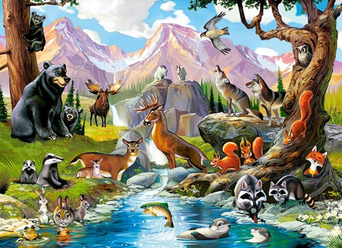 Пазлы 70 Premium Дикие животные