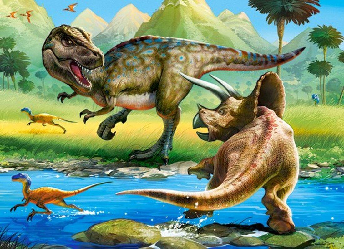 Пазлы 70 Premium Динозавры