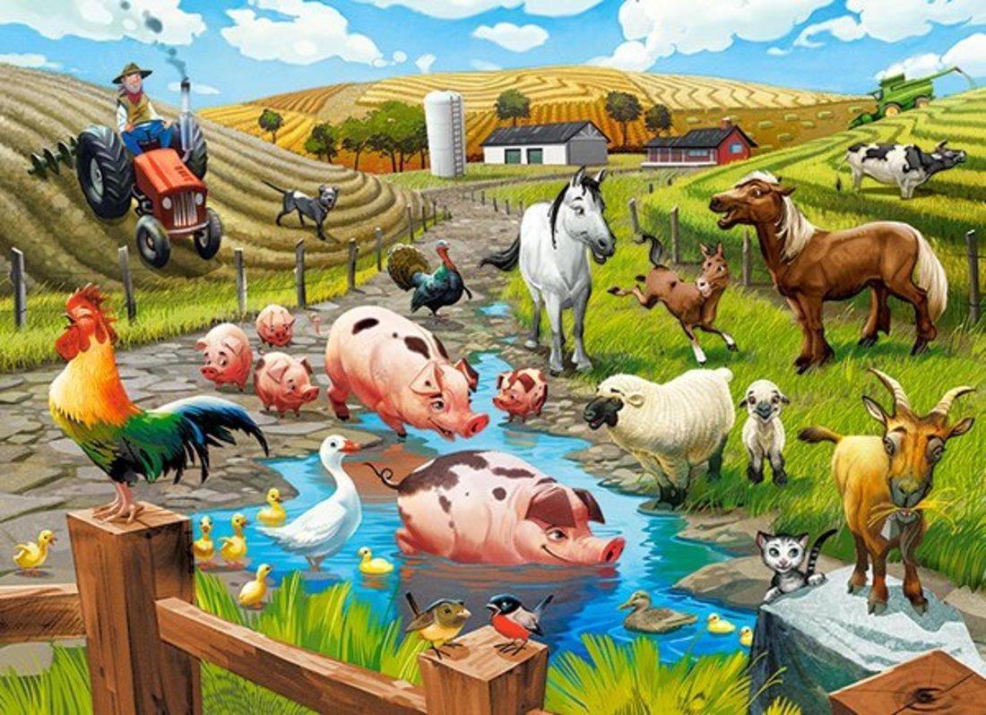Пазлы 70 Premium Жизнь на ферме