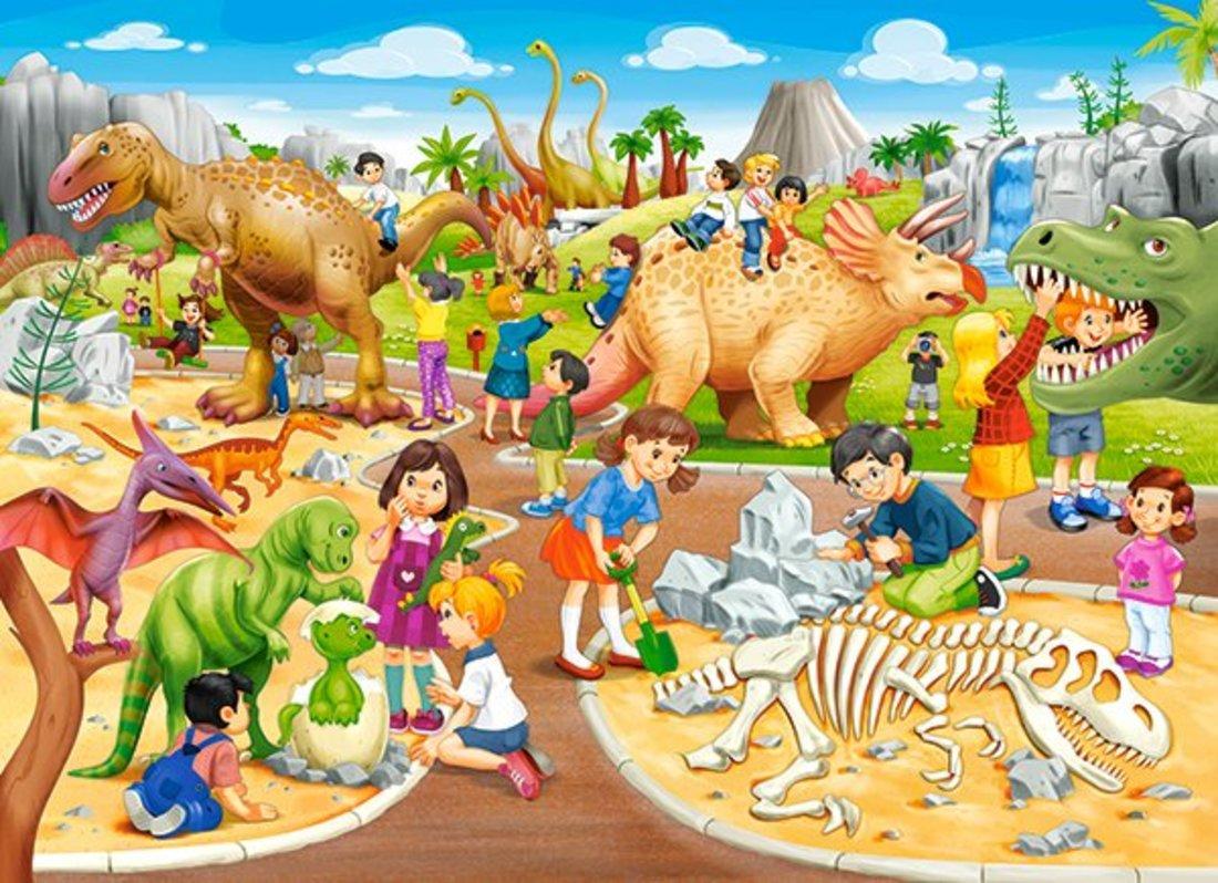 Пазлы 70 Premium Парк динозавров