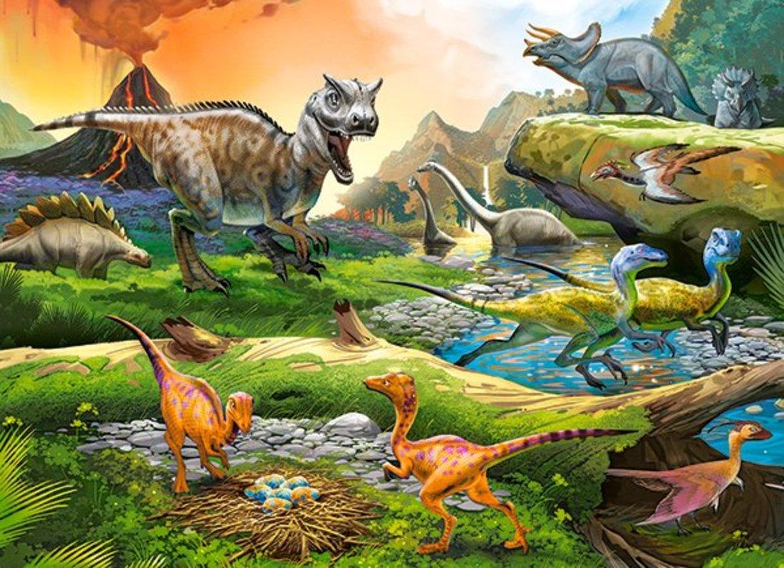 Пазлы 100 Premium Мир динозавров