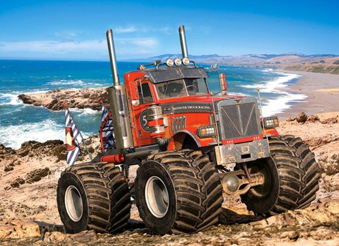 Пазлы 200 Premium Монстр Трак на побережье