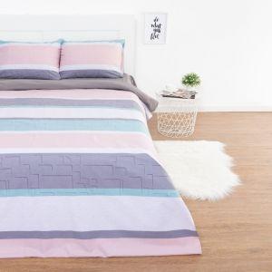 Комплект постельного белья: пододеяльник, 2 наволочки, 2 сп Этель «Мятное утро» 180х217 см, 50х70 см-2 шт, поплин