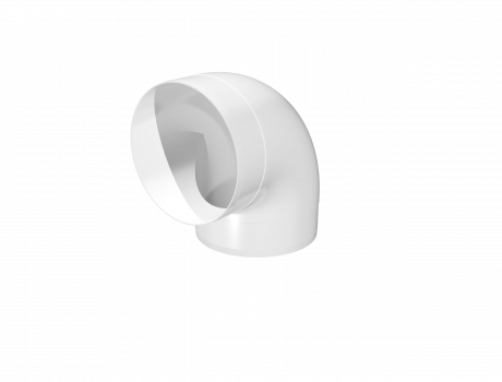 Колено круглое пластик 90°