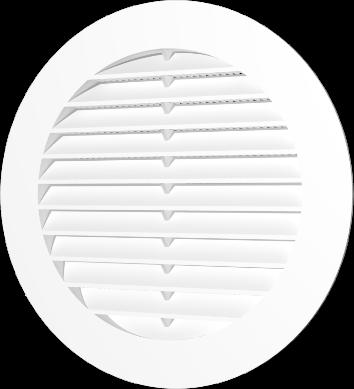 Решетка вентиляционная круглая с пластиковой сеткой D200
