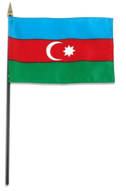 Флажок Азербайджана 14х20см