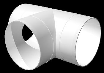 Тройник Т-образный пластик D160
