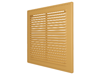 Решетка вентиляционная вытяжная АБС 208х208, беж.