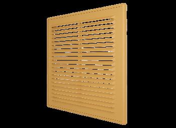 Решетка вентиляционная вытяжная АБС 249х249, беж.