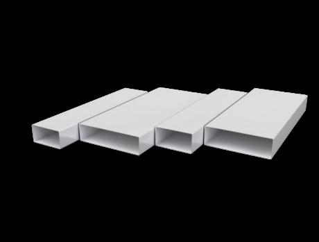 Воздуховод прямоугольный 55х110, L=1м, ПВХ