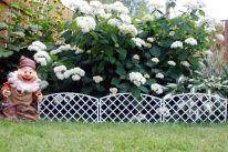 Забор декоративный №6 Плетёнка, 7 секций, белый