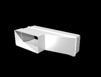Соединитель эксцентриковый плоского воздуховода с плоским 55х110/60х204