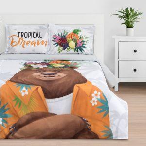 """Постельное белье """"Этель"""" 1.5 сп Tropical dream 143*215 см,150*214 см, 50*70+3 - 2 шт, ранфорс 111 г/м2"""
