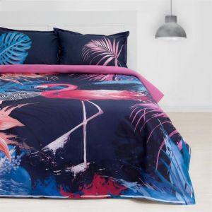 """Постельное бельё """"Этель"""" ранфорс Фламинго размер 1.5"""