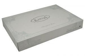 """кпб сатин delux Постельное белье сатин """"KARNA"""" DELUX 1,5 сп. подростк. SERVIN; Сиреневый размер 1.5"""