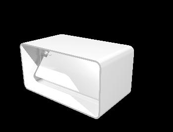 Соединитель с обратным клапаном пластик, 55х110