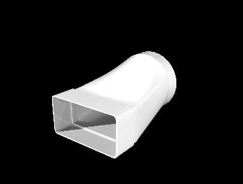 Соединитель эксцентриковый плоского воздуховода с круглым пластик, 55х110/D100