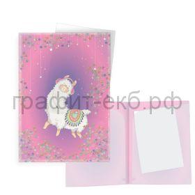 Конверт А4 2 кармана обложка с пайетками внутри Феникс+ 50959/50960