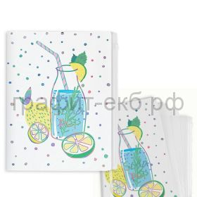 Конверт А4 4 кармана Феникс+ Лимонад/Мороженое 50963/51964