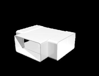 Тройник Т-образный пластик 55х110